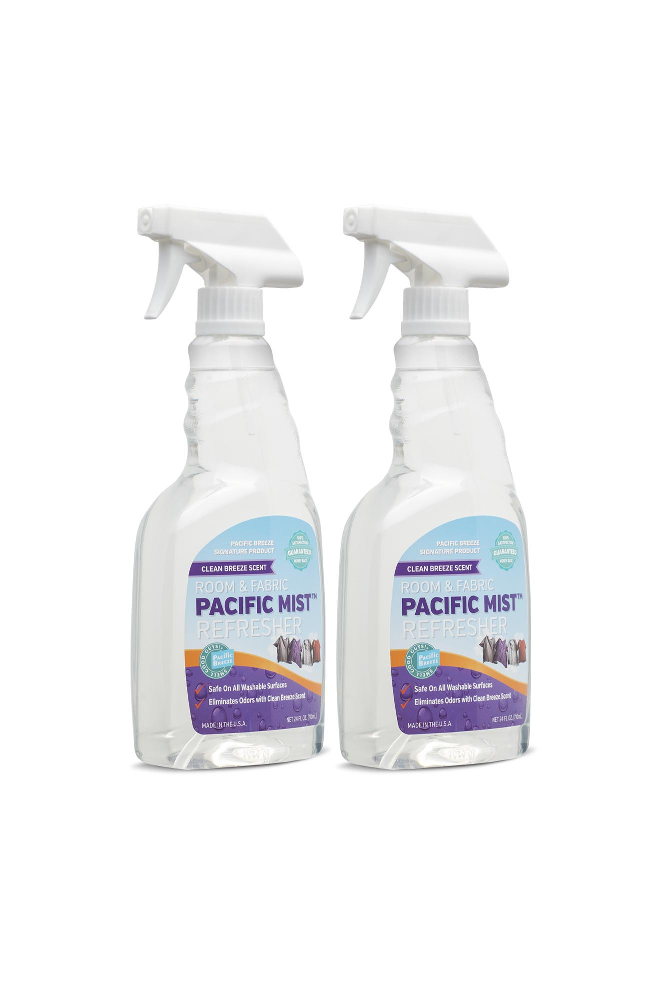 Pacific Mist™ Clean Breeze Room & Fabric Refresher - 24oz. (2-pack)