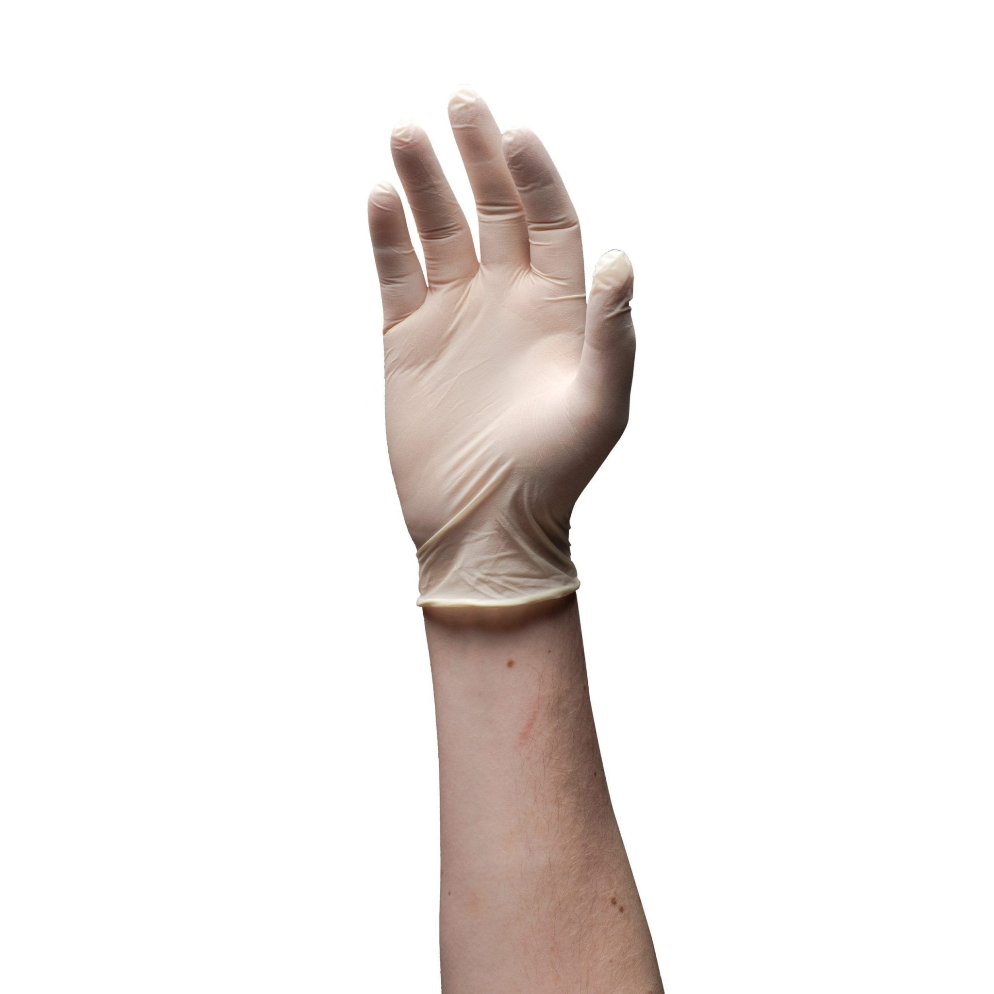 Gloveworks Ivory Latex Industrial Powder Free Disposable Gloves