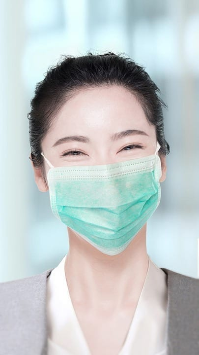 Wearing a mask helps to keep the work environment safe and sanitary.