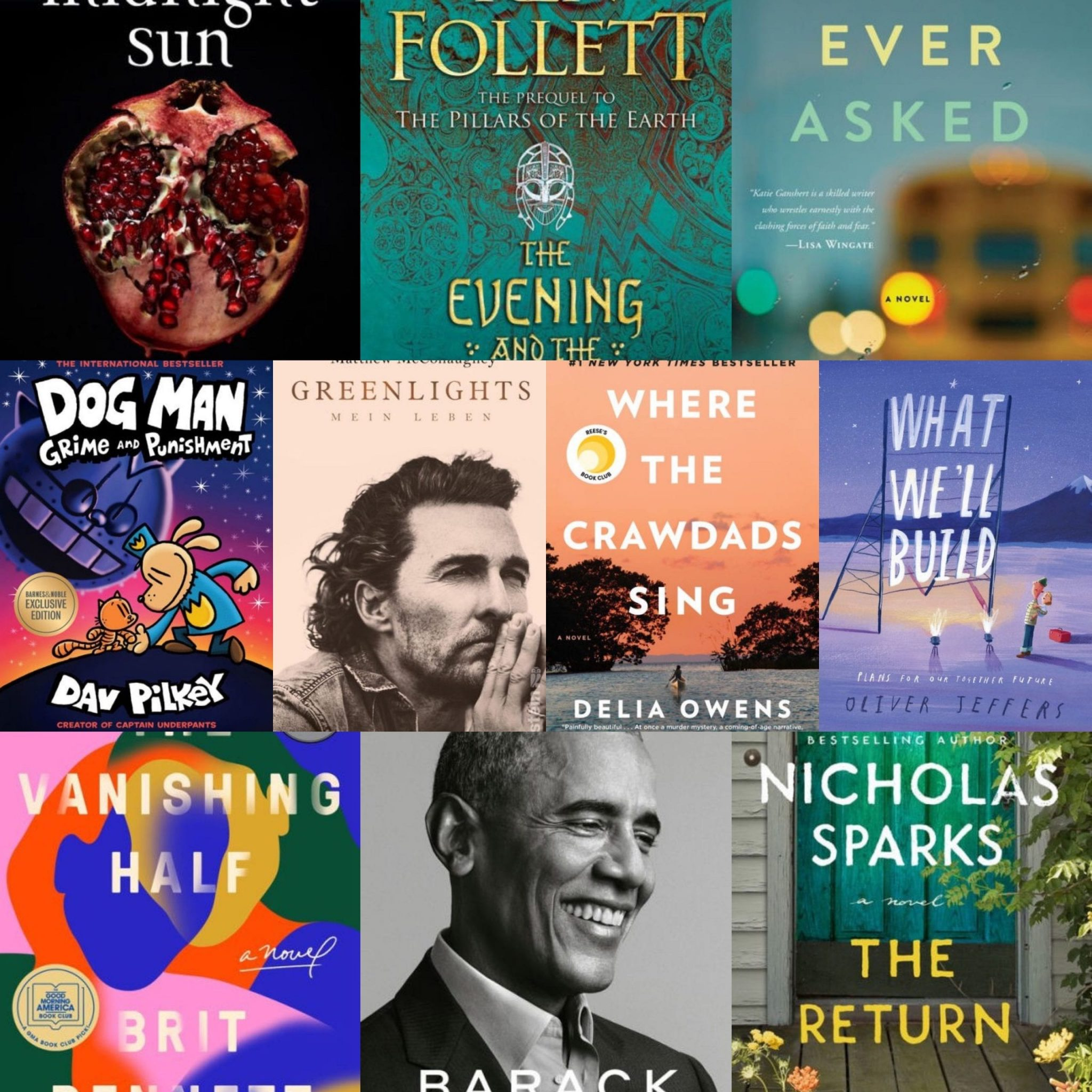 10 Top Selling Books in 2020